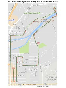 Georgetown Turkey Trot 2017 Course Map v1