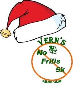 Jingle Bell Vern's No Frills 5k logo v1