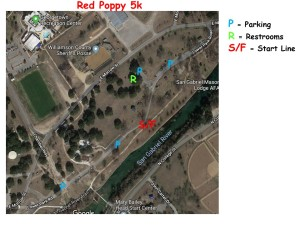 2018 Red Poppy 5k Parking & Start Location